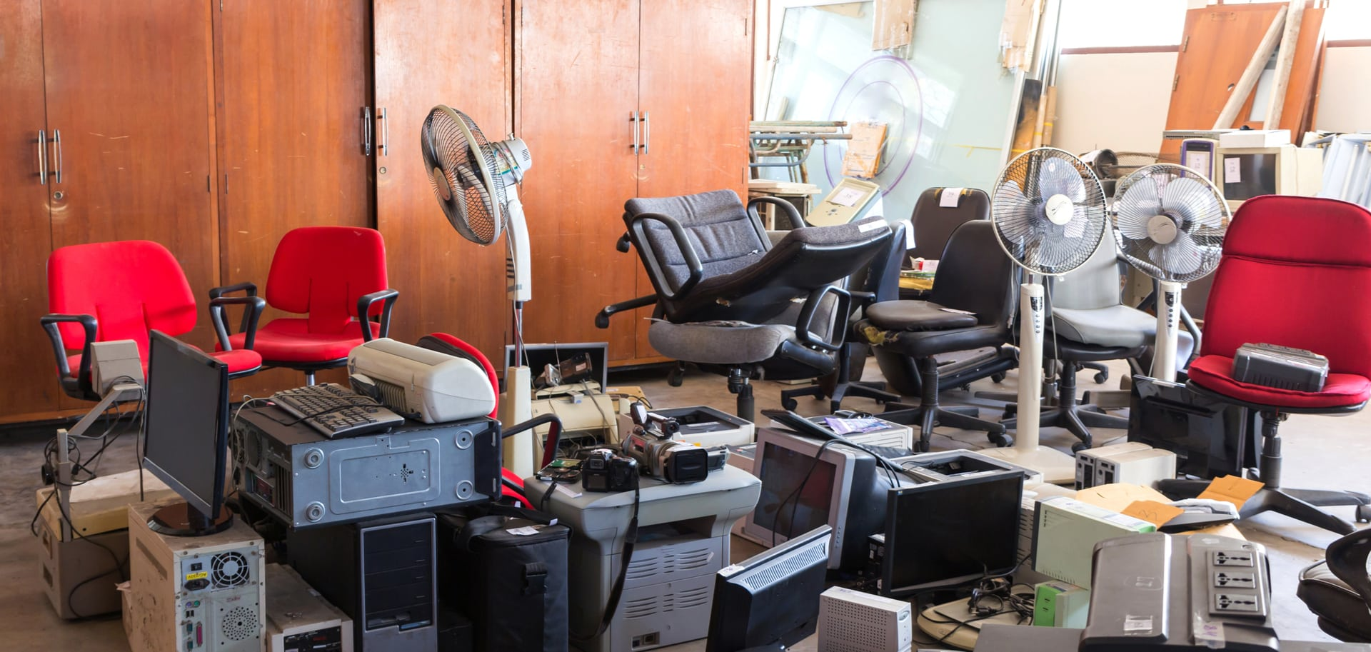 office in disarray